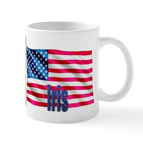 Iris Personalized Patriotic USA Flag Gift Mug