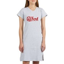 Albert, Vintage Red Women's Nightshirt