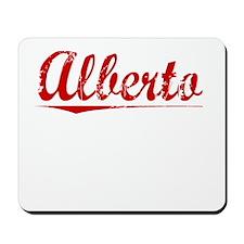 Alberto, Vintage Red Mousepad