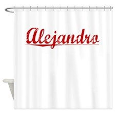 Alejandro, Vintage Red Shower Curtain