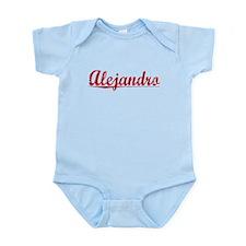 Alejandro, Vintage Red Infant Bodysuit