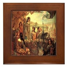 Lancelot and Guinevere Framed Tile