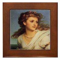 Portrait of Miranda Framed Tile