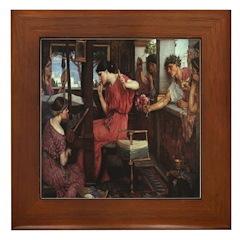 Penelope and Her Suitors Framed Tile
