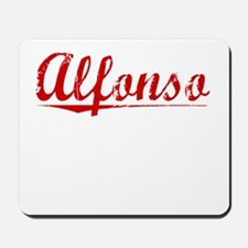Alfonso, Vintage Red Mousepad