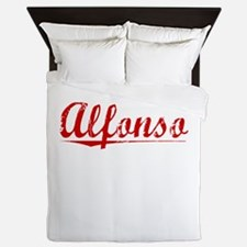 Alfonso, Vintage Red Queen Duvet