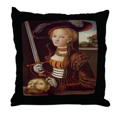 Judith Victorious Throw Pillow