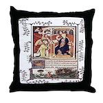 Medieval Psalter Throw Pillow