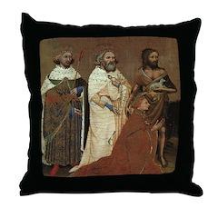Richard II with his Patron Saints Throw Pillow