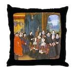 Sir Thomas More & Family 1593 Throw Pillow