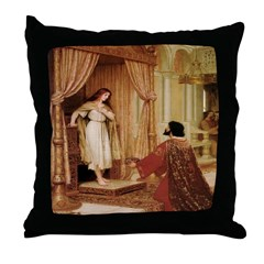 The King and The Peasant Throw Pillow