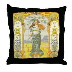 Rue De Paradis Throw Pillow
