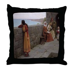 Castle Hostage Throw Pillow