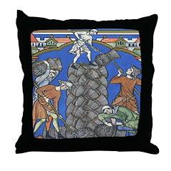 Medieval Farmers Throw Pillow