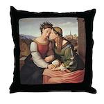 Germania and Italia Throw Pillow
