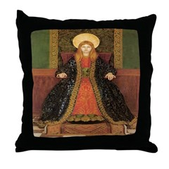 The Child Enthroned Throw Pillow