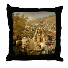 Queen Guinevere 'The Maying' Throw Pillow