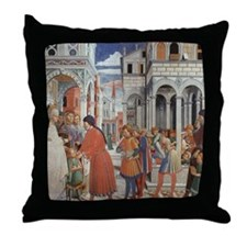 The School of Tagaste Throw Pillow