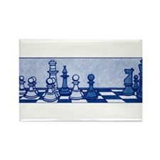Chess: Study in Blue Rectangle Magnet
