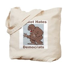 Bigfoot Hates Democrats Tote Bag