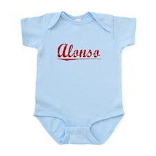 Alonso, Vintage Red Infant Bodysuit