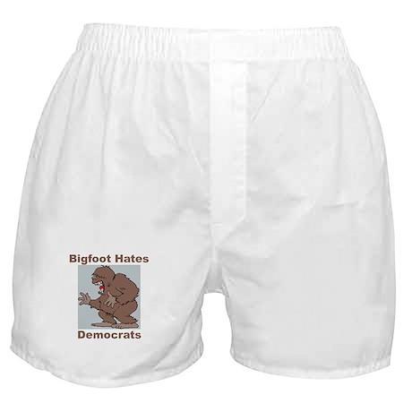 Bigfoot Hates Democrats Boxer Shorts