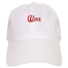 Alva, Vintage Red Baseball Baseball Cap