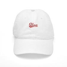 Alva, Vintage Red Baseball Cap