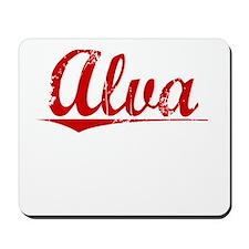 Alva, Vintage Red Mousepad