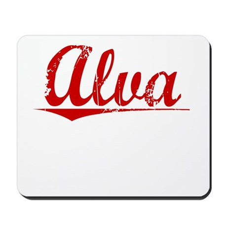 Alva, Vintage Red Mousepad