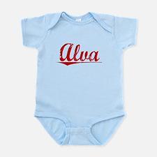 Alva, Vintage Red Infant Bodysuit