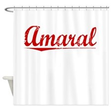 Amaral, Vintage Red Shower Curtain