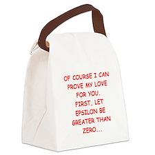 MATH love Canvas Lunch Bag