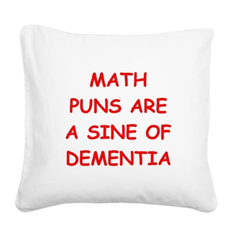 MATH Square Canvas Pillow