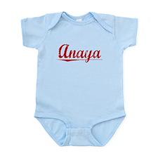 Anaya, Vintage Red Infant Bodysuit