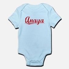 Anaya, Vintage Red Infant Bodysuit