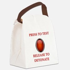 testing joke Canvas Lunch Bag