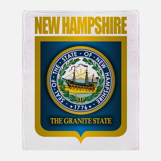 New Hampshire Seal (back) Throw Blanket