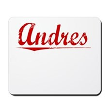 Andres, Vintage Red Mousepad