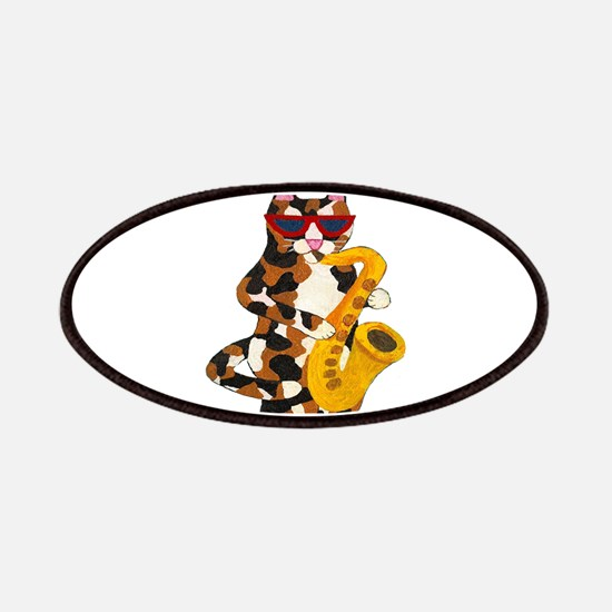 Calico Cat Playing Saxophone Patches