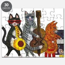 JazzCatsCut-out for Zazzle_FINAL.jpg Puzzle