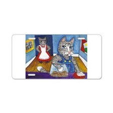 Cat Stealing Cookies- Aluminum License Plate