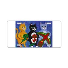 Cats with Kites Aluminum License Plate