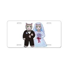 Cat Bride Aluminum License Plate