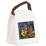 Jazz Cats Canvas Lunch Bag