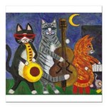 Jazz Cats Square Car Magnet 3