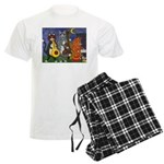 Jazz Cats Men's Light Pajamas