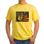 Jazz Cats Yellow T-Shirt
