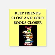 "BOOKS.png Square Sticker 3"" x 3"""