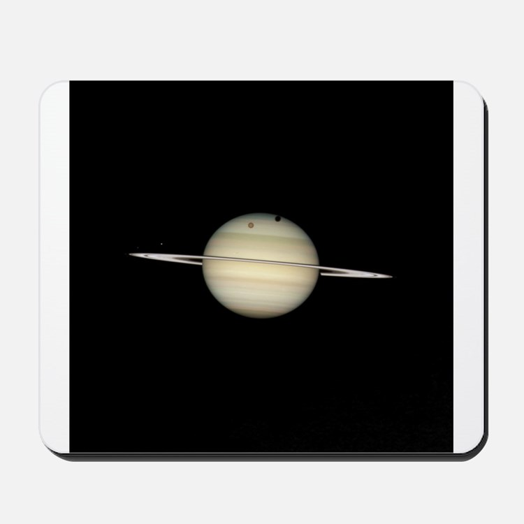 Saturn 4 Moons in Transit Mousepad